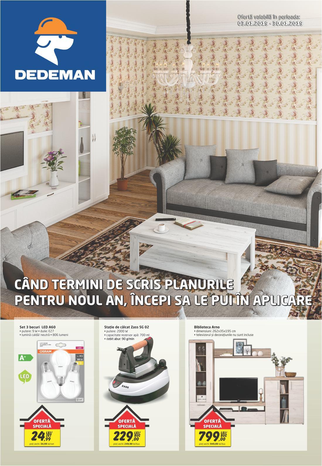 Catalog DEDEMAN - 03 Ianuarie 2019 - 30 Ianuarie 2019