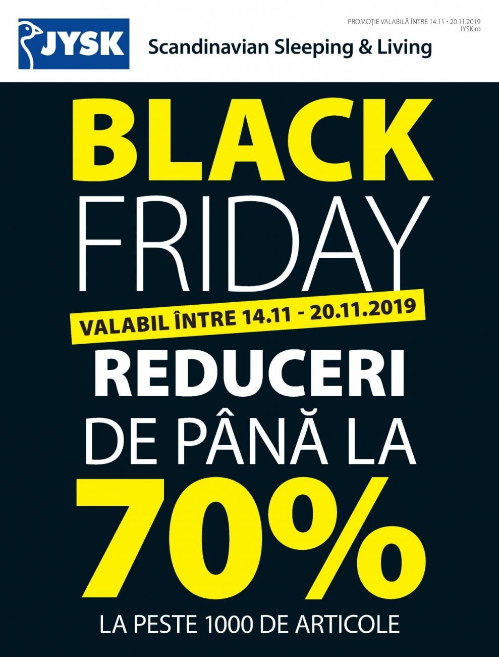 Catalog JYSK Black Friday 14 Noiembrie 2019 - 20 Noiembrie 2019