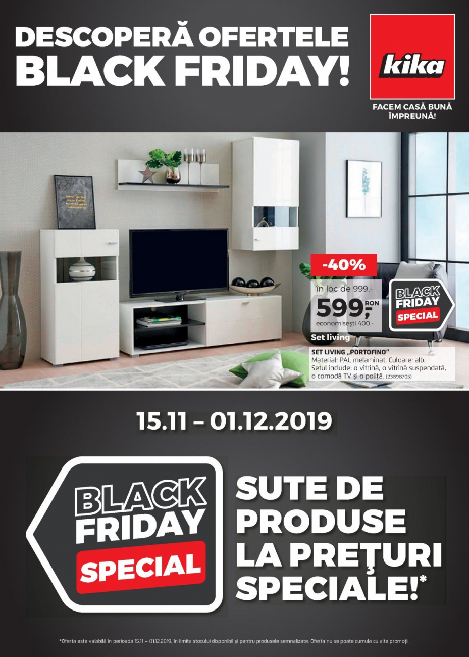 Catalog KIKA Black Friday - 15 Noiembrie 2019 - 01 Decembrie 2019