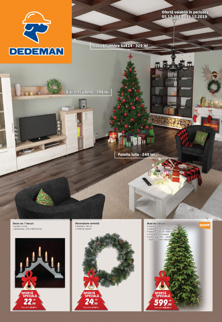 Catalog DEDEMAN - 05 Decembrie 2019 - 31 Decembrie 2019